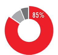 In fiscal year 2020, 85% of all expenditures went to program services.